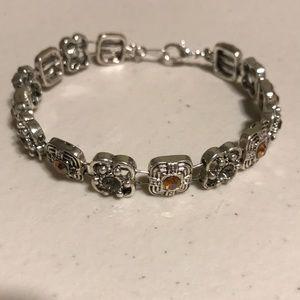 Jewelry - Yellow smoky grey rhinestone bracelet